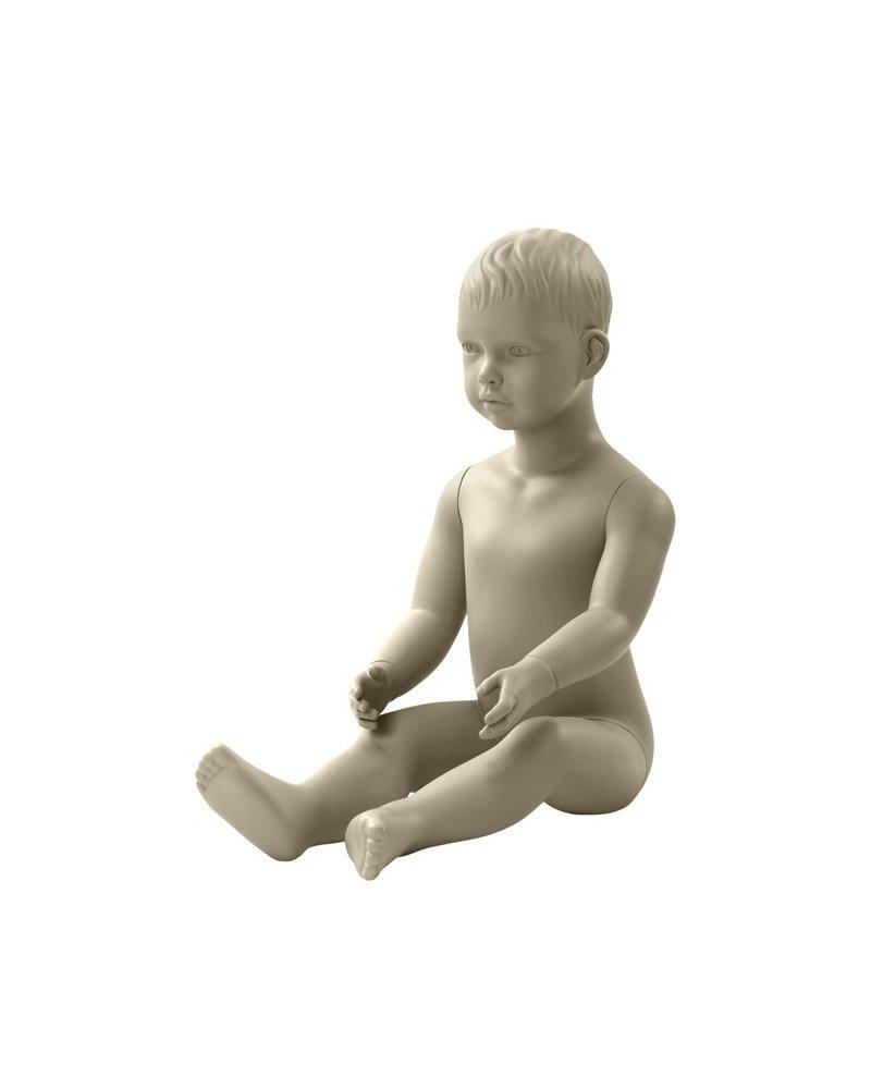 Maniquí de niño de dos años sentado, Daniel