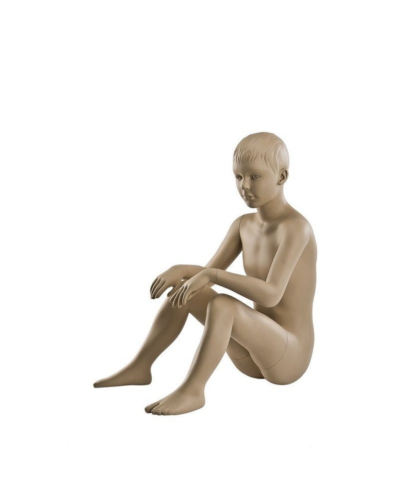 6-year-old sitting position mannequin, Raúl