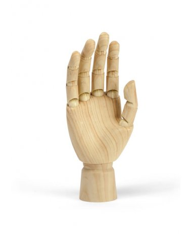 Woman's right hand articulated wood effect