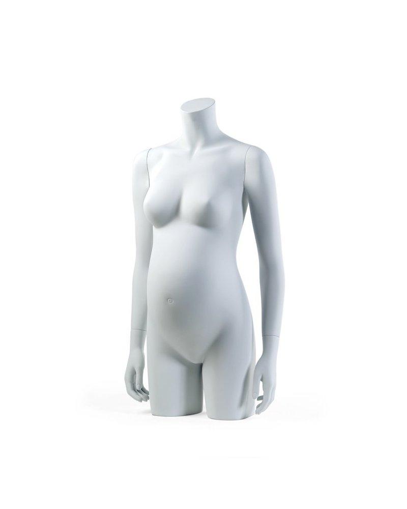 Pregnant woman headless torso, Anais