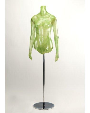 Green translucent woman torso