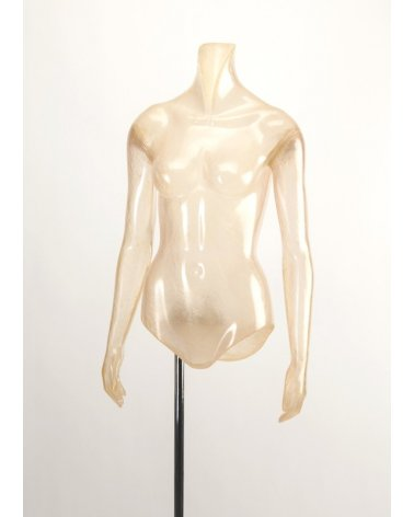 Green translucent woman torso