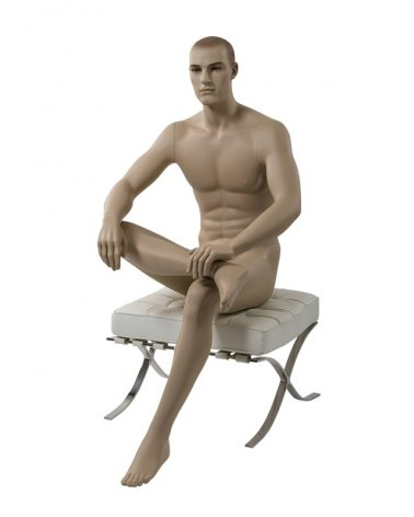Male Mannequin Sitting, Urban 5