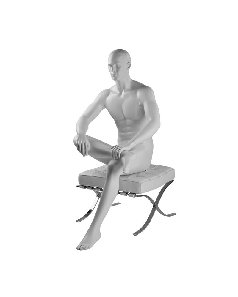 Man mannequin sitting on front, Hector 4