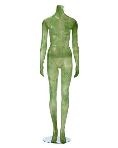 Maniquí Mujer Sin Cabeza, Agua y Sol Verde