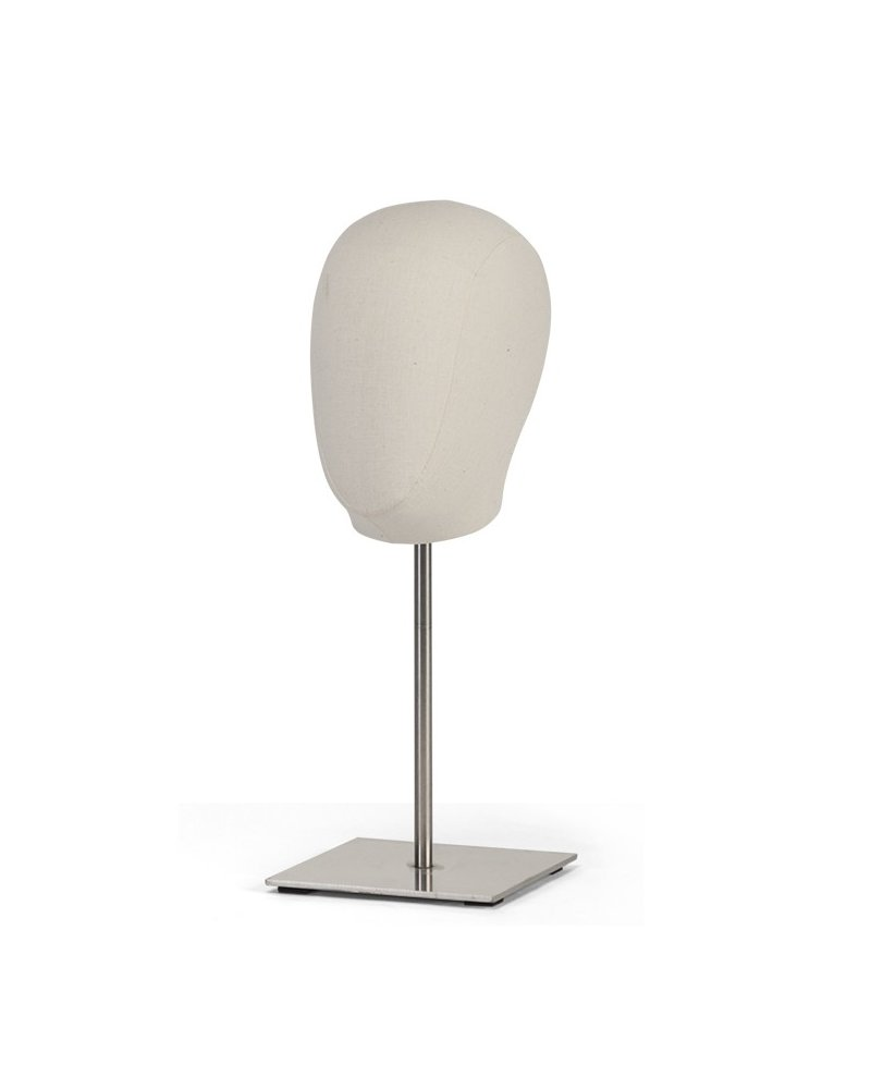 Woman Head Display upholstered in linen