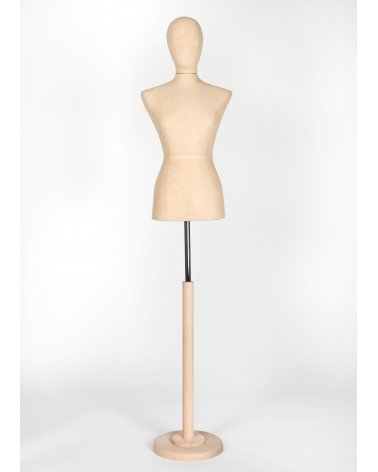 Grey Upholstered Female Bust Haute Couture 2