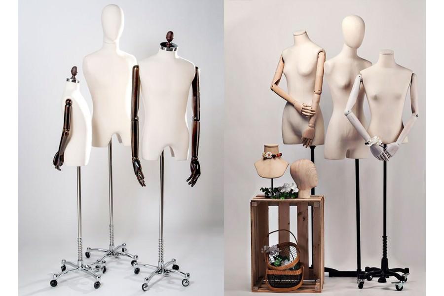 Diferencias entre busto y torso. ¿Qué maniquí elijo para mi negocio?